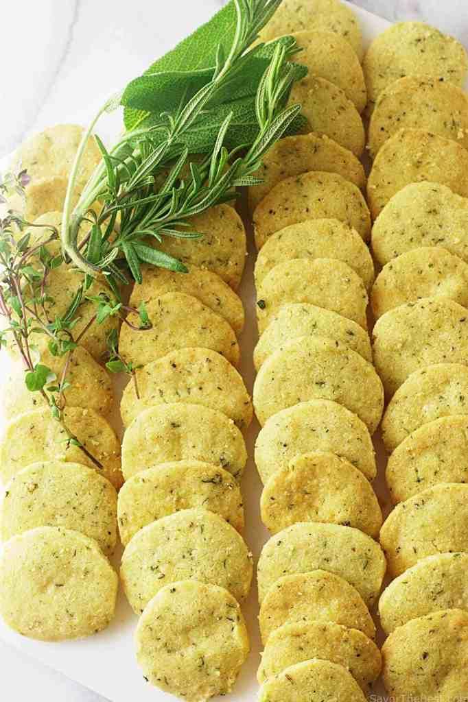 Parmesan herb crackers
