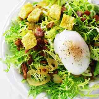 Salade Lyonnaise with Poached Duck Egg