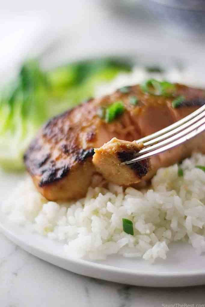 Ginger-Miso Glazed Salmon