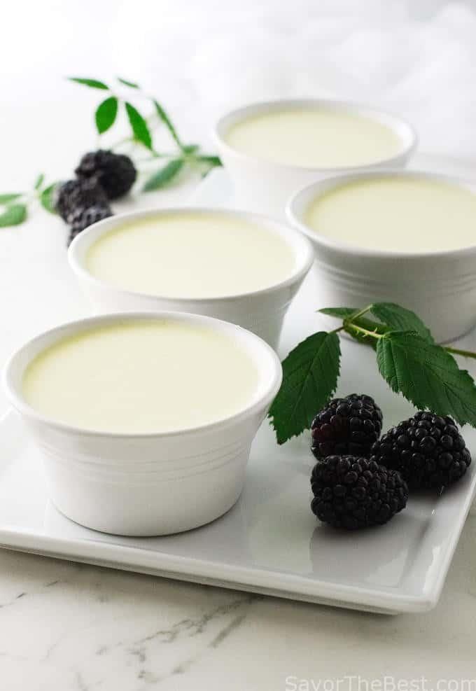 Blackberry Soup with Buttermilk Custards