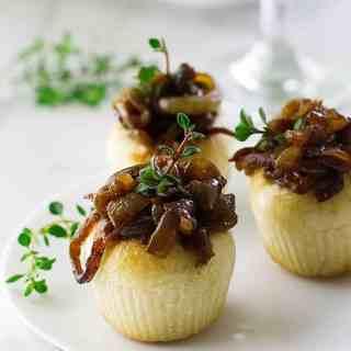 French Onion-Gruyere Mini Boules