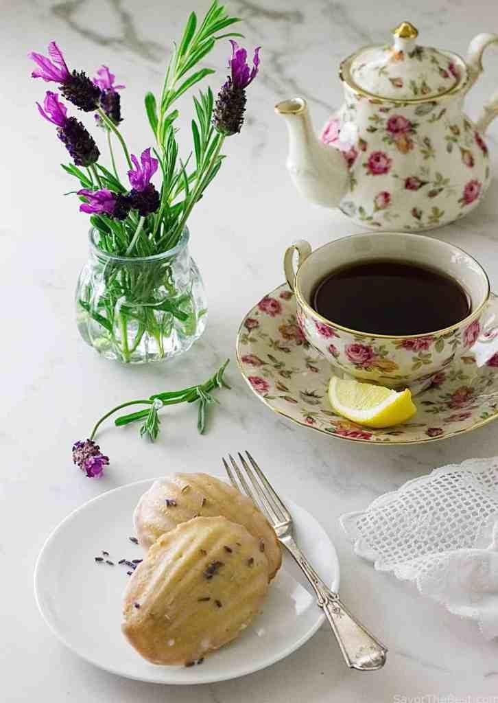 Lavender Madeleine Tea Cakes