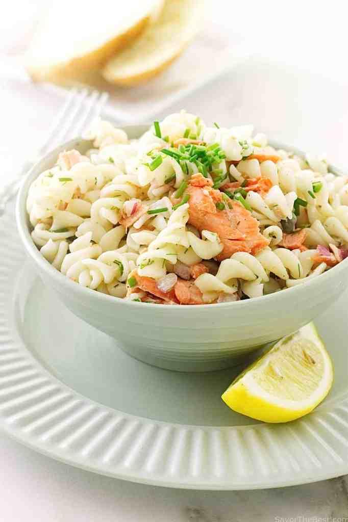 Salmon Salad with Spelt Pasta