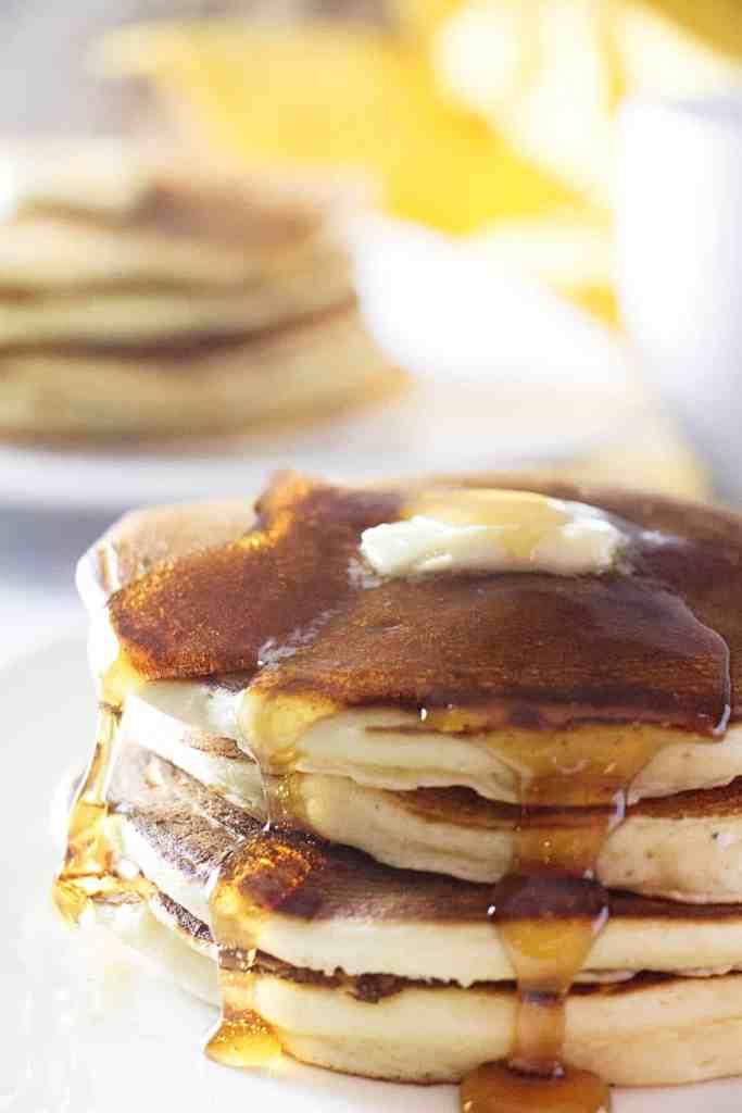 sourdough ricotta pancakes