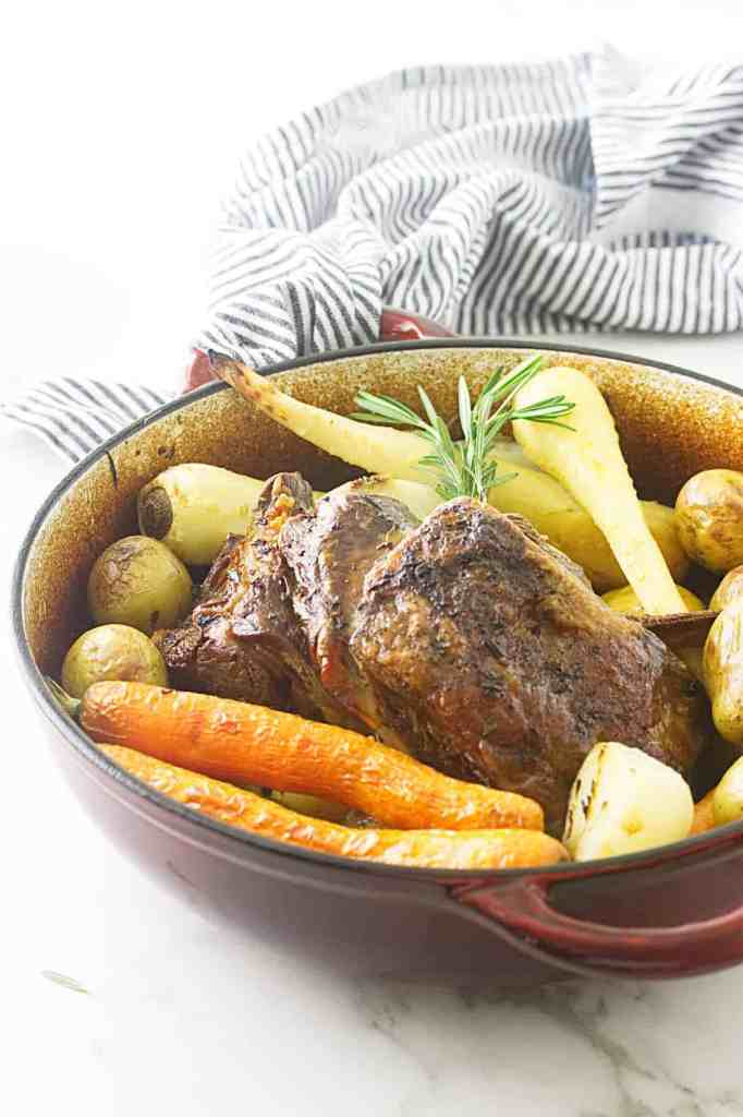 Slow-Roasted Lamb Shoulder and Root Vegetables