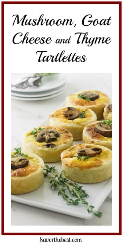 Mushroom, Goat Cheese and Thyme Tartlettes