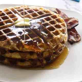 Overnight Sourdough Waffles