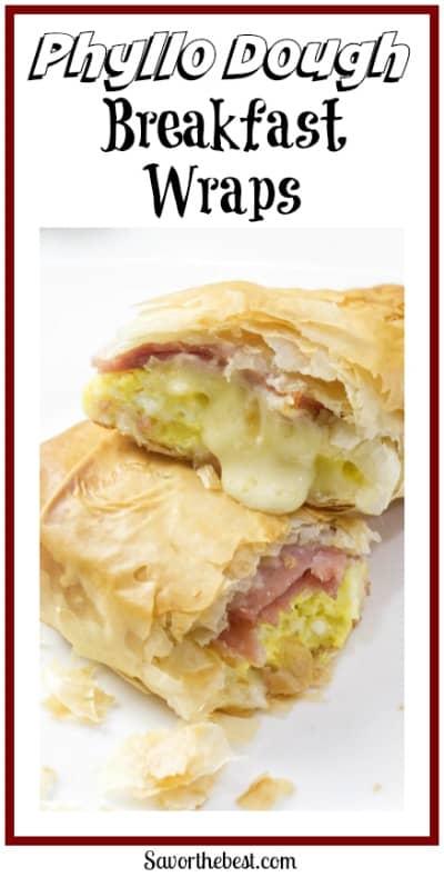 Phyllo breakfast wraps