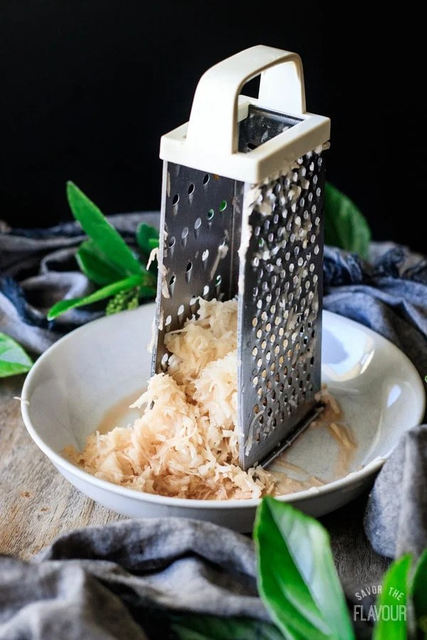 grating potatoes for boxty bread