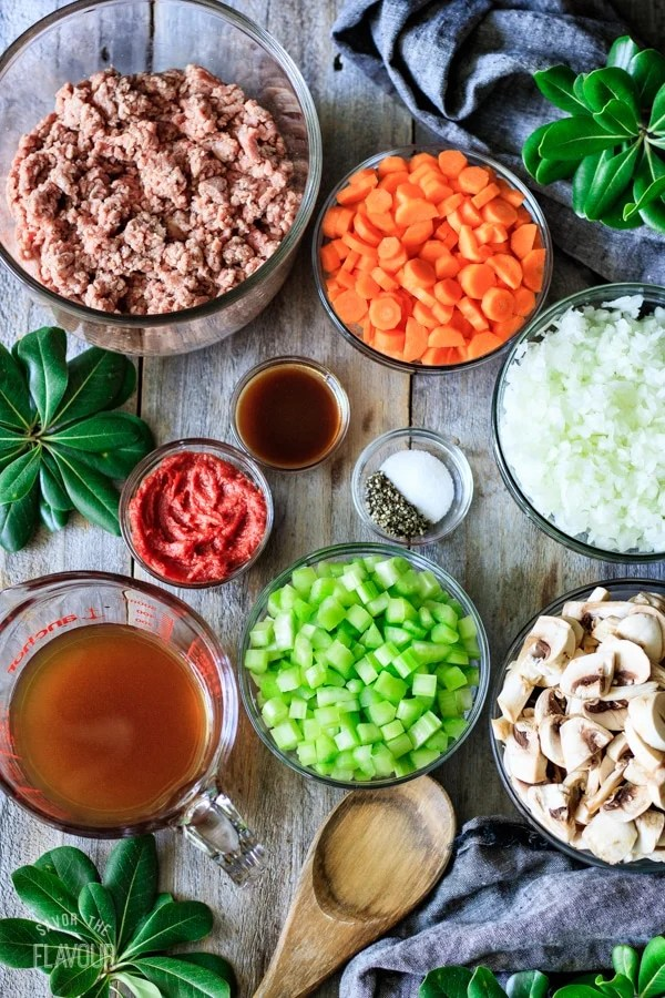 filling ingredients for minced beef pie