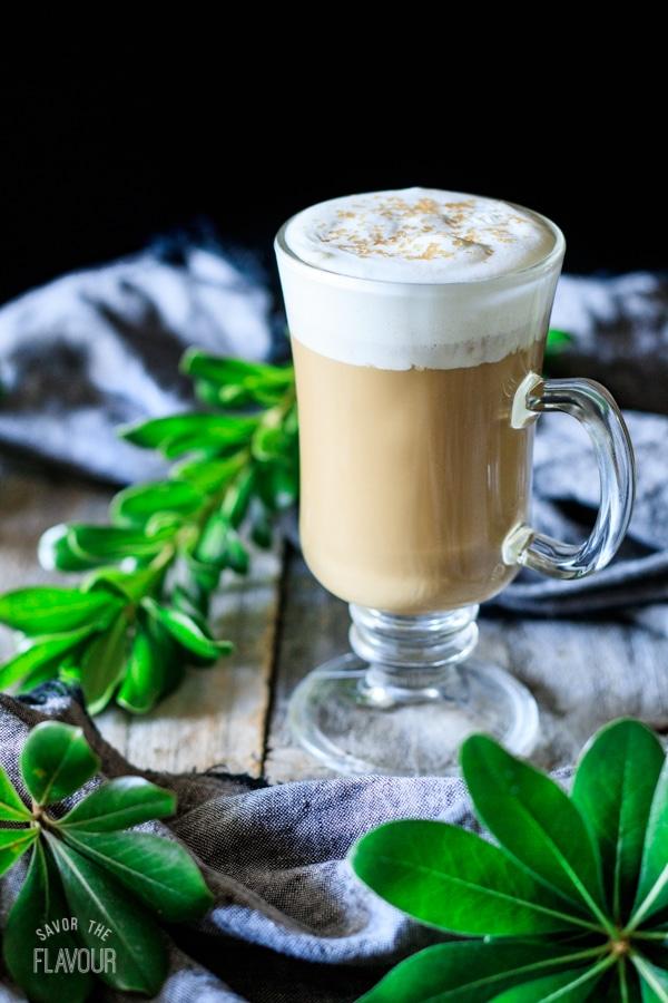 glass of smoked butterscotch latte