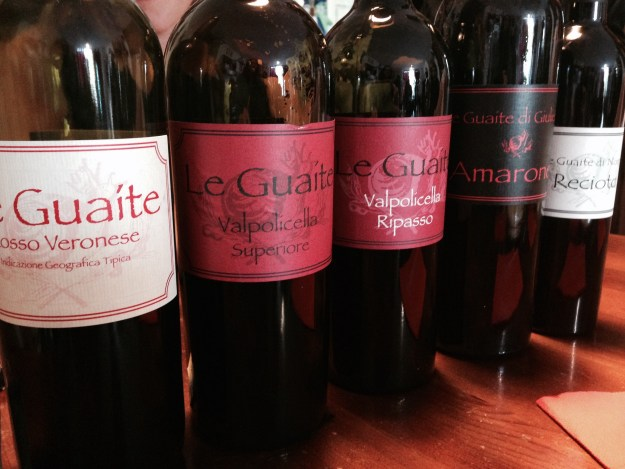 The Valpolicella line up at Le Guaite.