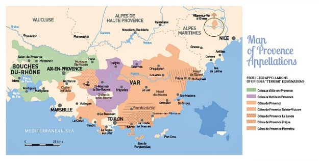 provence aop map