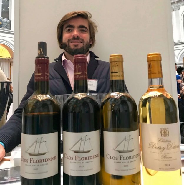 Jean Jacques Dubourdieu sharing Clos Floriedene and Doisy-Daëne wines