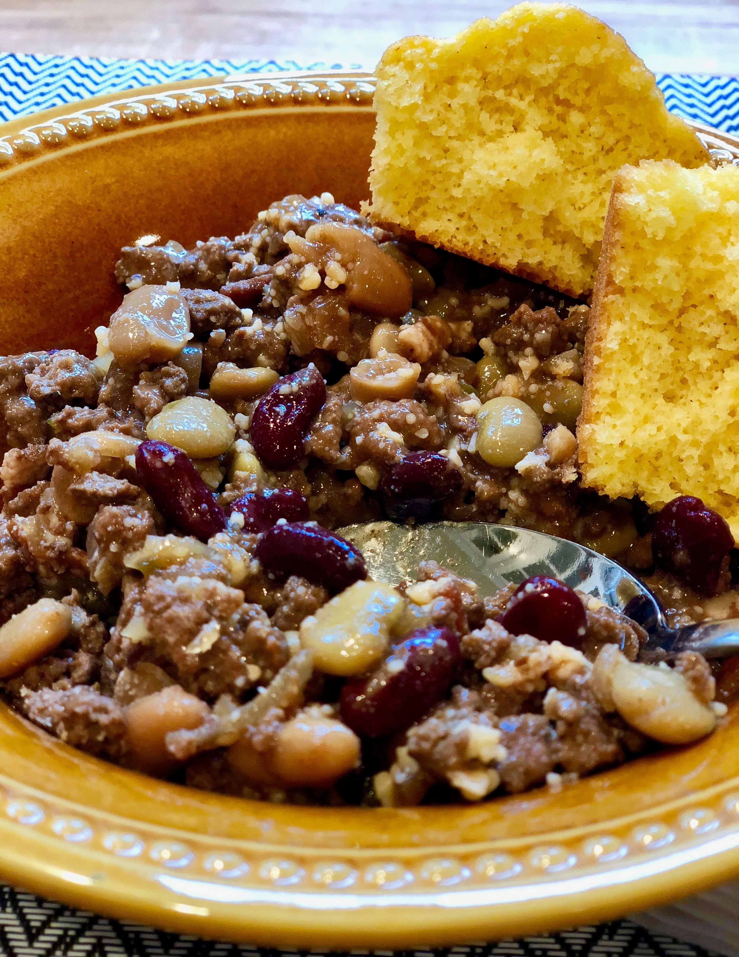 bean stew with corn bread recipe