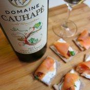 domain cauhape juracon sec smoked salmon crudites food pairing