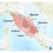 Le Marche Abruzzo wine regions Fernando Beteta map