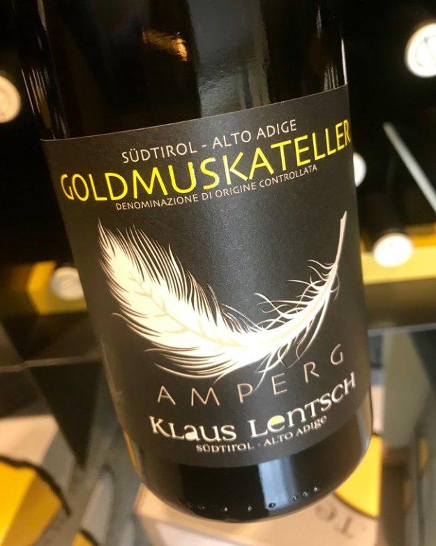 Klaus Lentsch Goldmuskateller wine Alto Adige