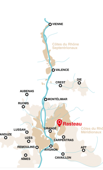 southern rhone valley map