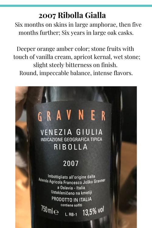 Gravner 2007 Ribolla Gialla skin fermented wine Italy collio