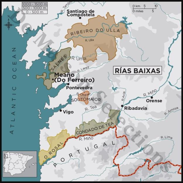 Galicia Rias Baixas D.O. Spainish wine region