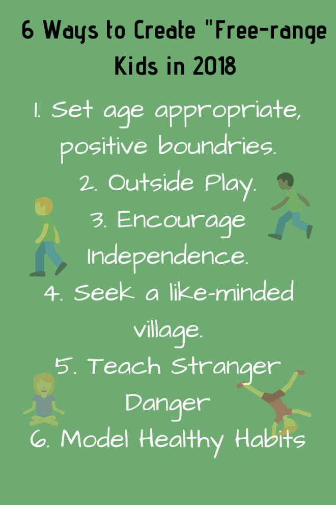 "6 Ways the Create ""Free-range"" Kids in 2018"