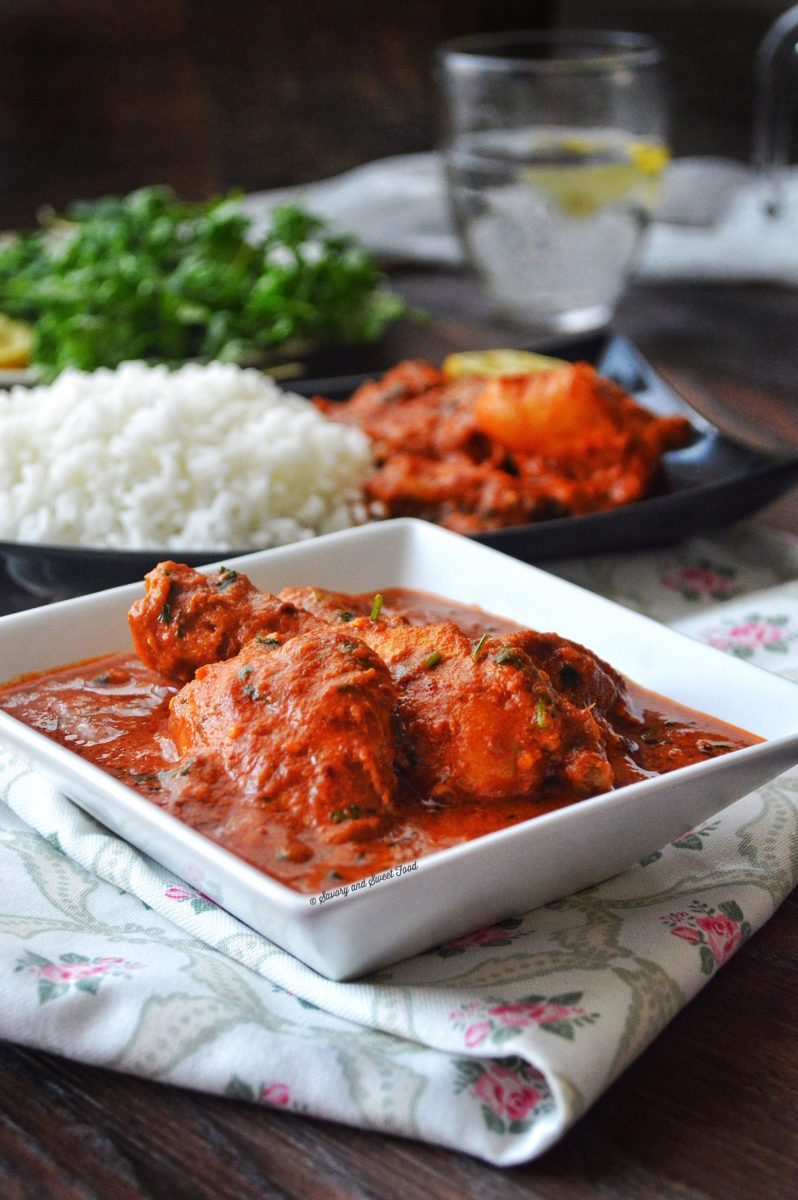 Spicy Indian Style Red Chicken Curry Savory Amp Sweetfood