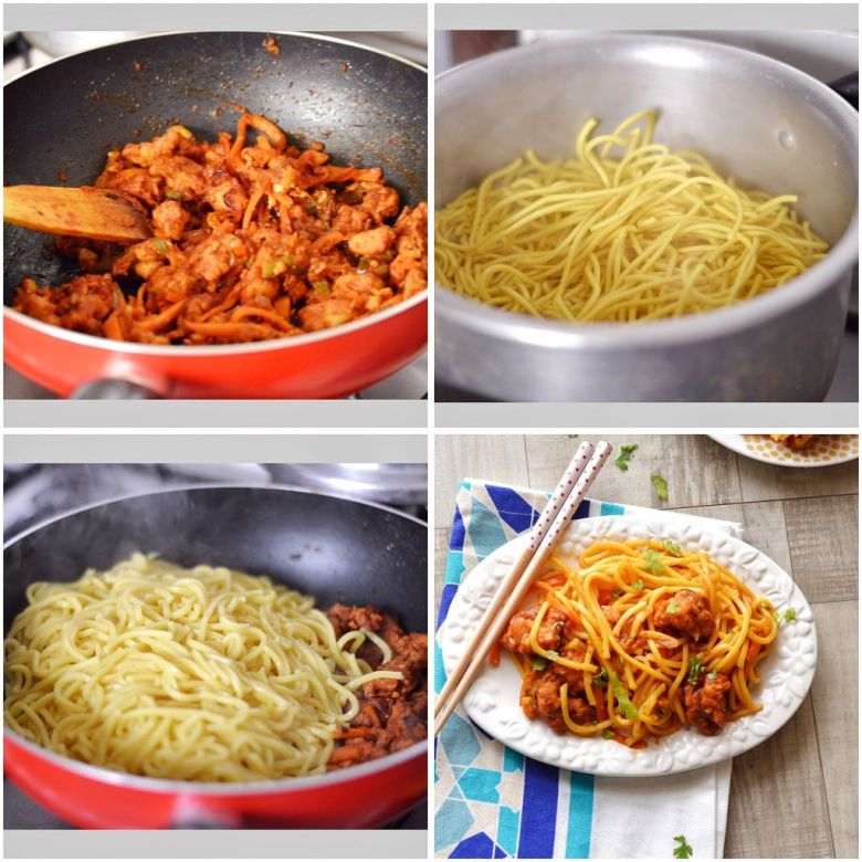 How to make Spicy Chicken Chinese Noodles