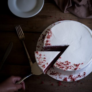 Moist Red Velvet Cake and Whipped Cream Cheese Frosting