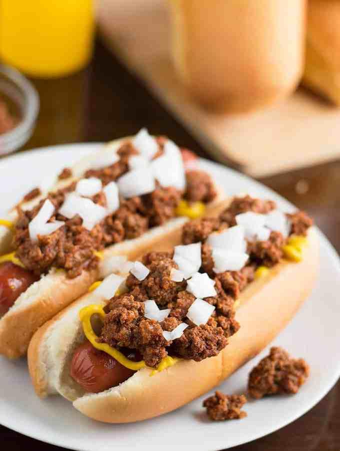 Easy Homemade Hot dog Chili no chili season packets involved DSC_0021