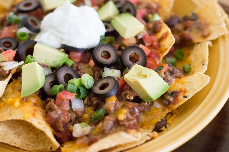 Spicy Black Bean and Sausage Nachos using Leftovers DSC_0117