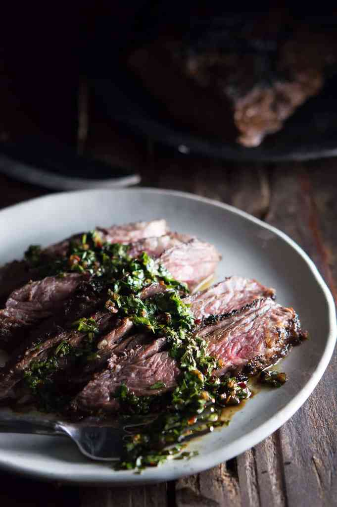 Brazilian Steak with Chimichurri Sauce