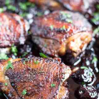 Roasted Black Cherry Balsamic Chicken