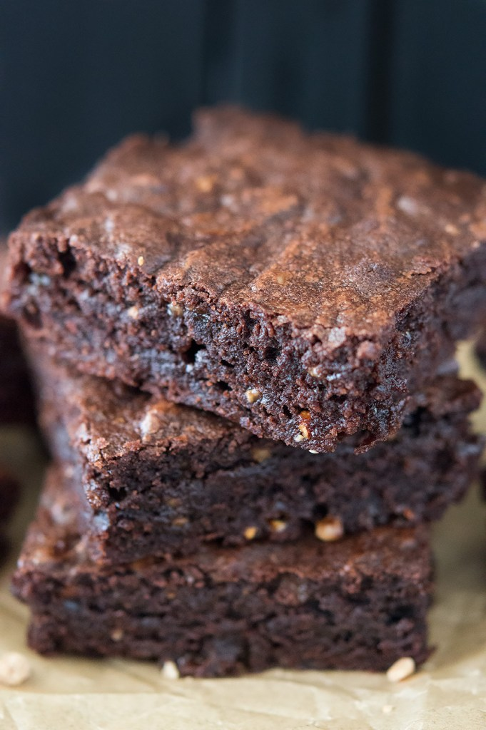 chewy and fudgy toffee brownies