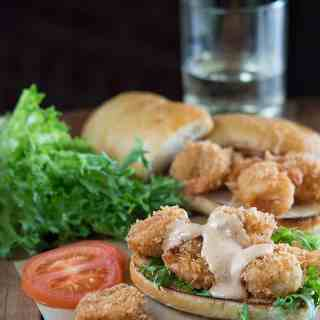 Cajun Panko Crusted Shrimp Po Boys + BHM Virtual Potluck