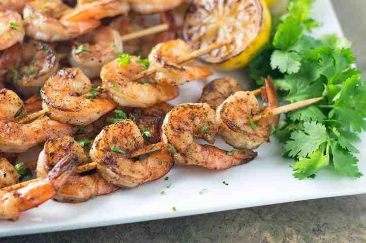 Drunken Cajun Shrimp Skewers