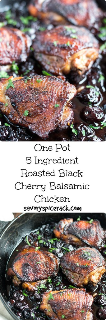 Roasted Black Cherry Balsamic Chicken is another one pot meal that helps upgrade your chicken. Plus the taste reminds me of a barbecue chicken.... But better!