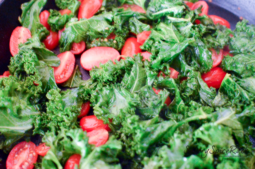 kale tomato in garlic brown butter 8