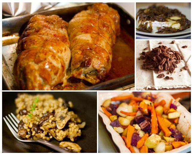 thanksgiving menu 2012