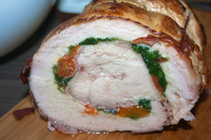 turkey roulade bbq style
