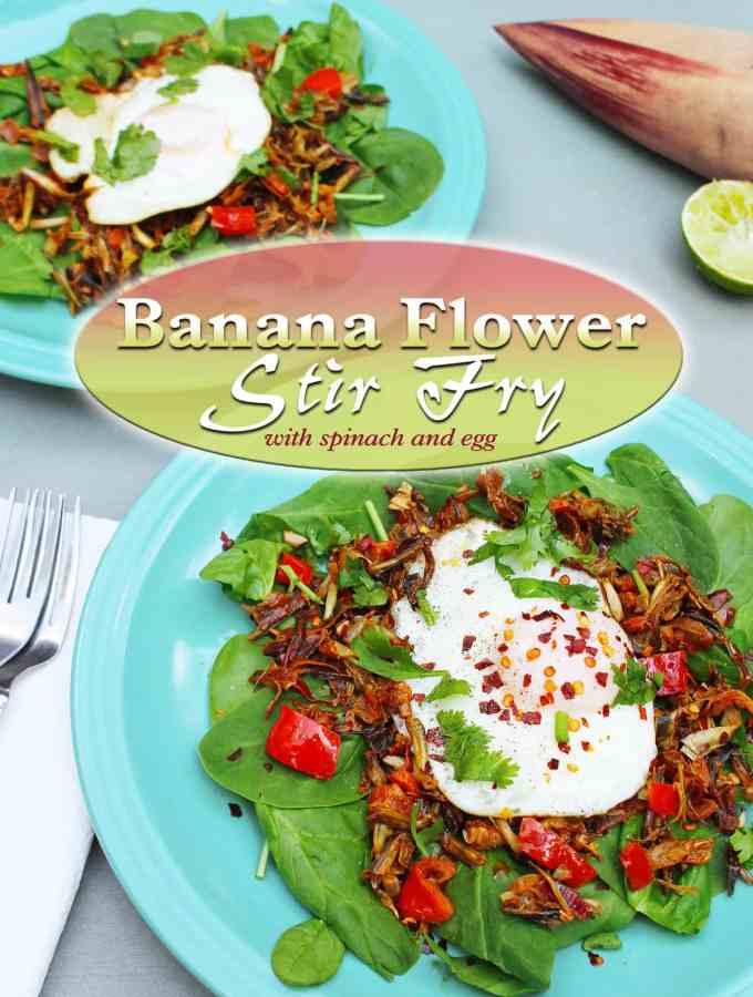 Banana Flower Stir Fry {Recipe Redux}
