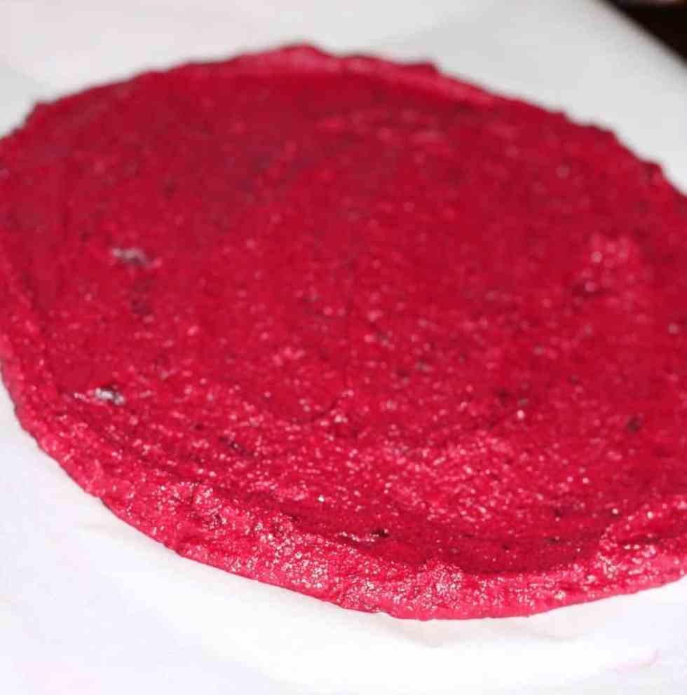 beet crust pre-bake