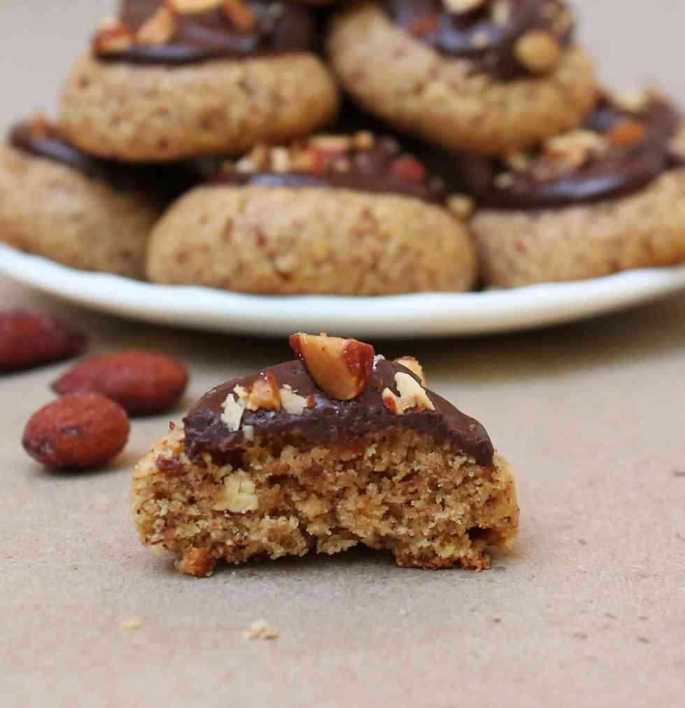 almond cookies inside