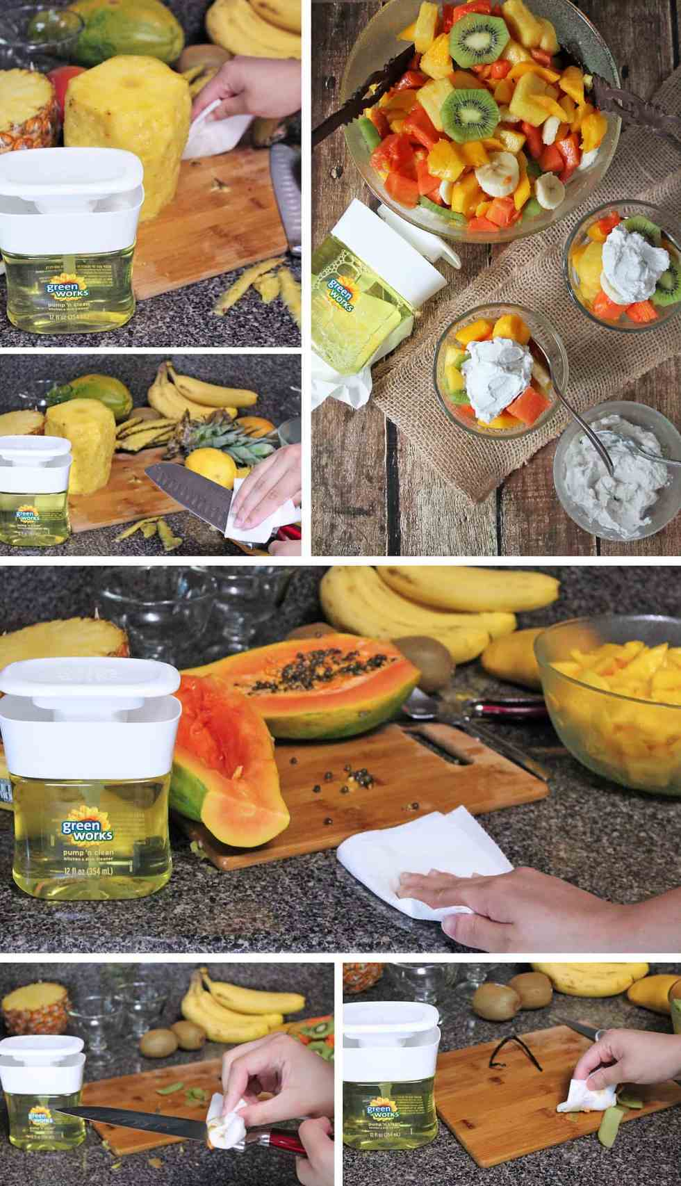 Clean-Up While Making SriLankan Style Fruit Salad #NaturallyClean