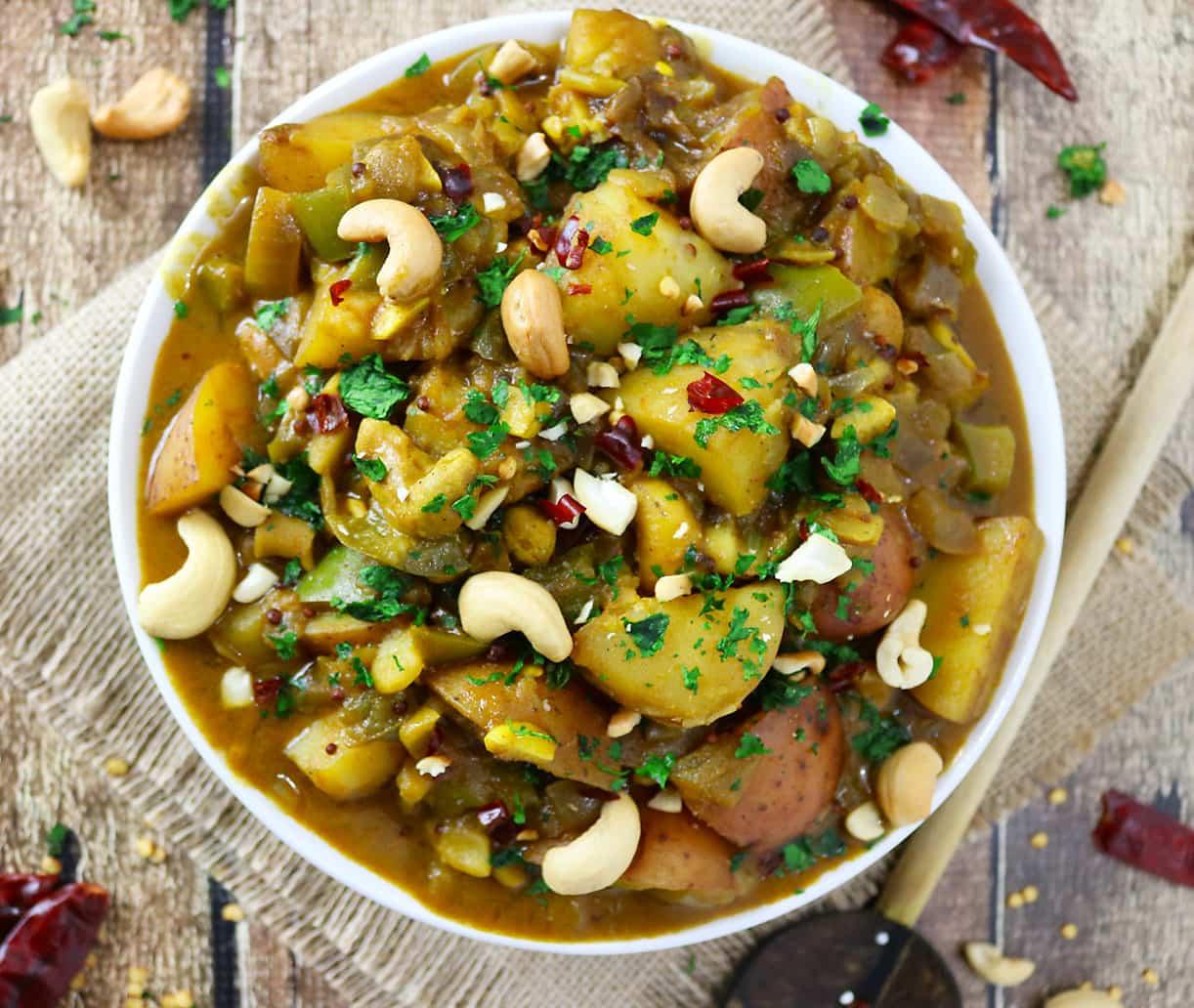Sri Lankan Potato & Cashew Curry - Healthy Recipes with a ...