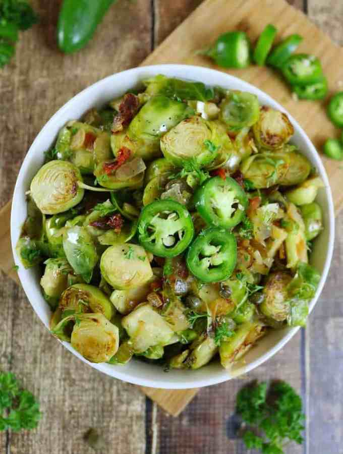Capered Brussels Sprouts & Giveaway