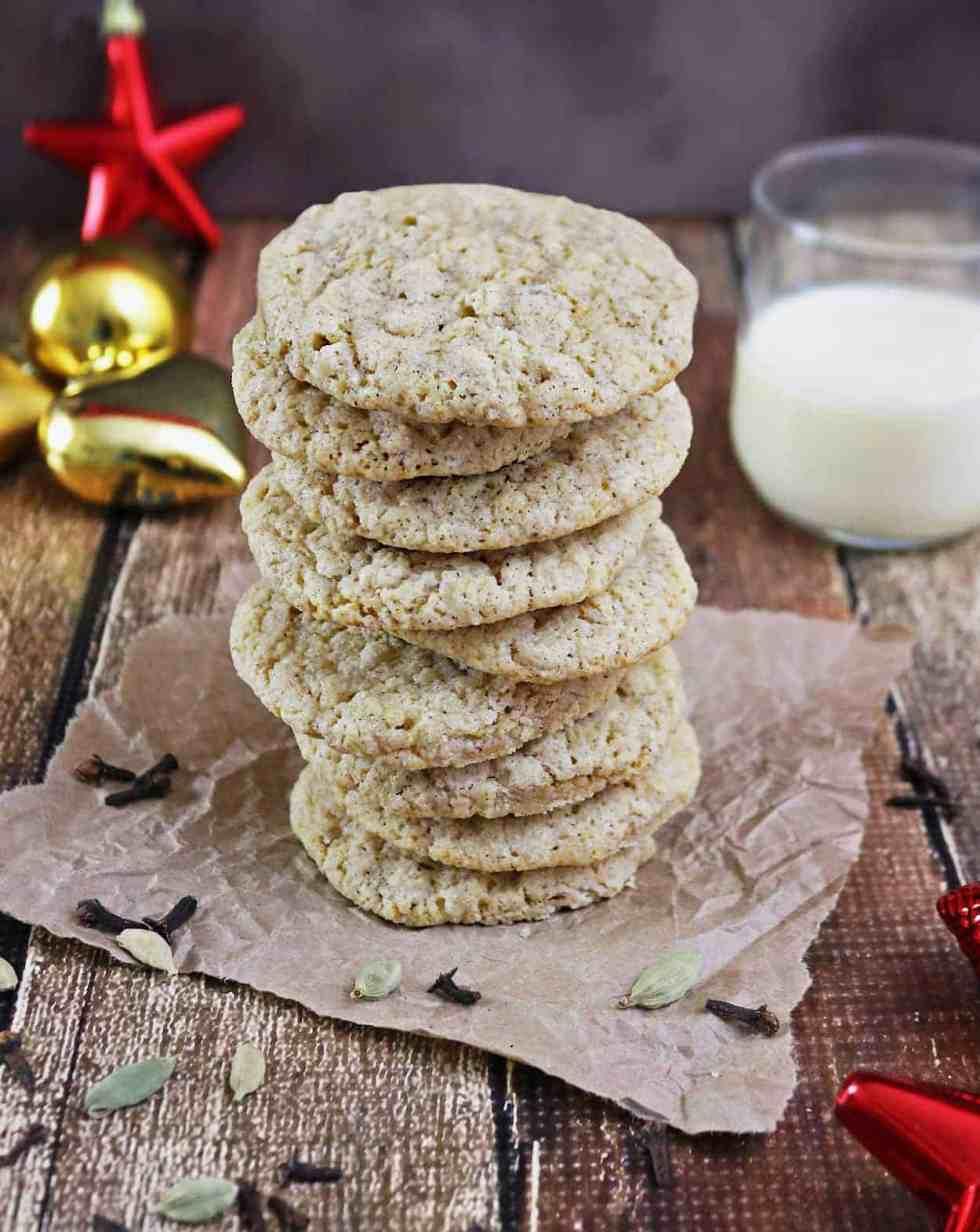 Eggnog Cardamom Cookies - Gluten Free