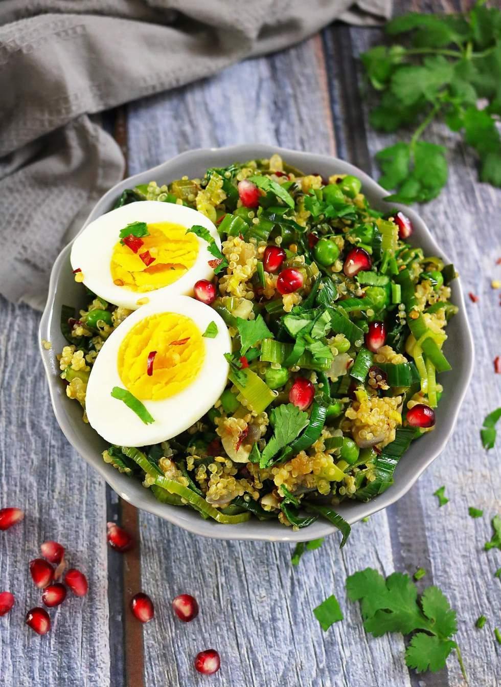 Pineapple Quinoa And Leek Sauteed Salad