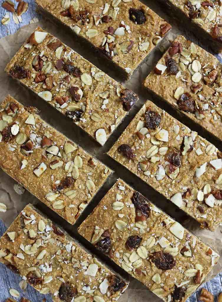 Peanut Butter Bars Gluten Free Refined Sugar Free