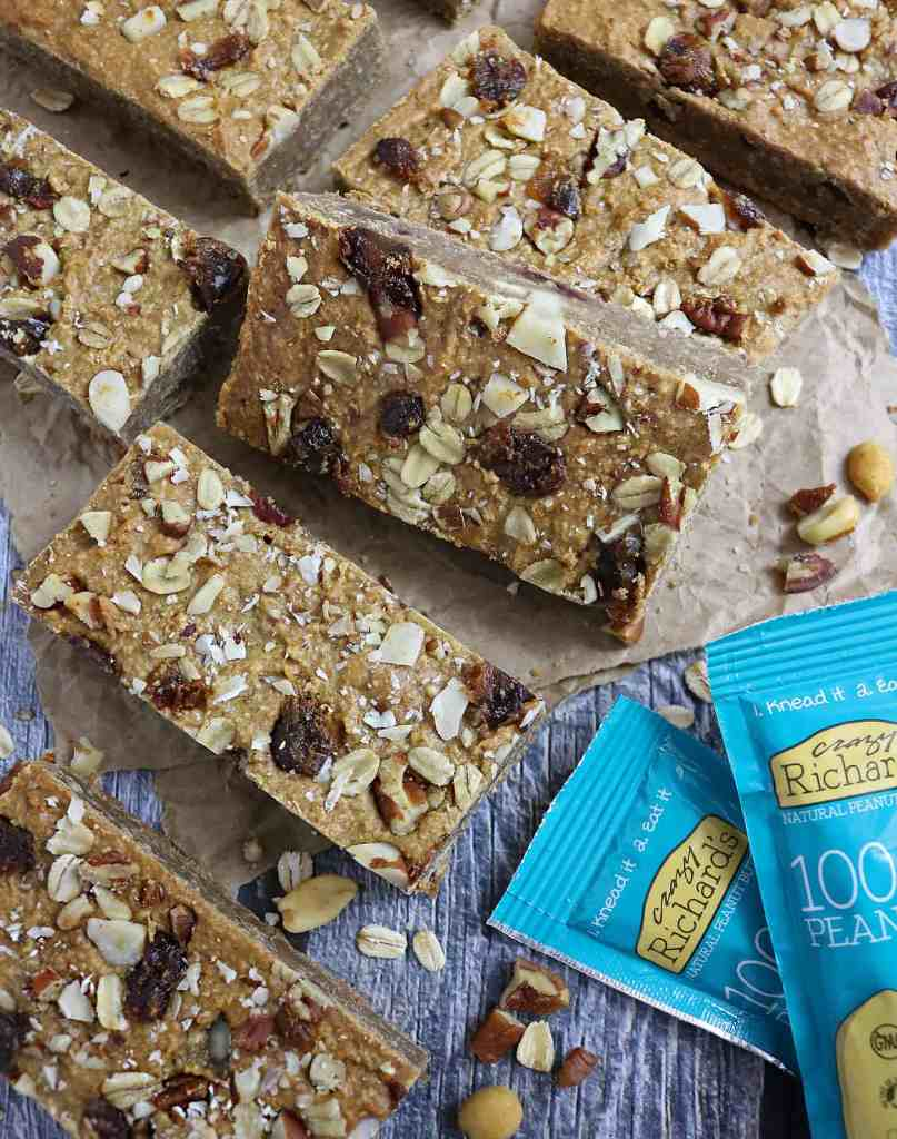 Peanut Butter Oat Breakfast Bars with Crazy Richard's Peanut Butter